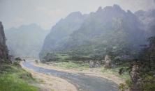 《喜鹊谷》(丙烯画)朴大