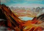 火山口  80x60厘米  980元 油画