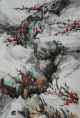 梅66x45厘米 880元  国画