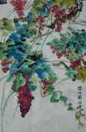 提子图  42x66厘米  880元 写意国画