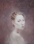 丽莎肖像 55000元 布面油画  60x80厘米