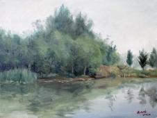 静静的湖畔