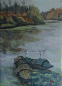 春之船  1980元  布面油画